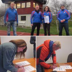 Fr vänster: Bo Wikmark, Niclas och Petra Sahlgren, Lars Davidsson